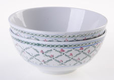 Ciotola, ciotola ceramica su fondo bianco fotografie stock