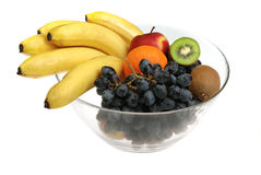 Ciotola con frutta Fotografia Stock Libera da Diritti