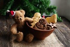 Ciotola con i biscotti Fotografie Stock