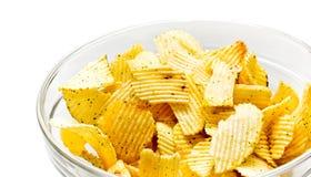 Ciotola con i chip Fotografia Stock Libera da Diritti
