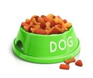 Ciotola con l'alimentazione del cane Fotografie Stock