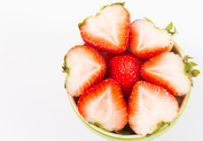 Ciotola con le fragole Fotografia Stock Libera da Diritti