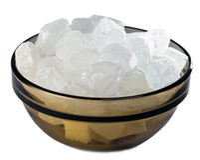 Ciotola con lo zucchero bianco della caramella Immagine Stock Libera da Diritti