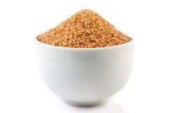 Ciotola con zucchero marrone Immagine Stock Libera da Diritti