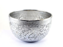Ciotola d'argento dell'acqua Immagine Stock Libera da Diritti