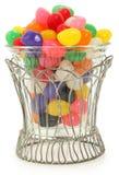Ciotola decorativa di fagioli di gelatina fotografie stock libere da diritti