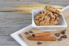 Ciotola del biscotto della composizione Immagini Stock