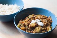 Ciotola del curry delle lenticchie Fotografia Stock Libera da Diritti