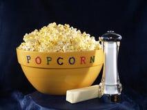 Ciotola del popcorn Fotografia Stock