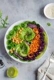 Ciotola del pranzo del vegano di Healhty Immagine Stock Libera da Diritti