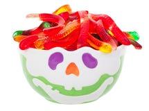 Ciotola della caramella di Hallowe'en Immagine Stock