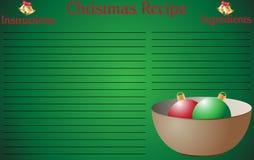 Ciotola della pagina di ricetta di Natale Immagine Stock Libera da Diritti