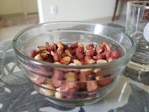 Ciotola delle arachidi Fotografia Stock Libera da Diritti