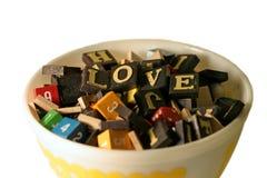 Ciotola di amore Immagini Stock Libere da Diritti