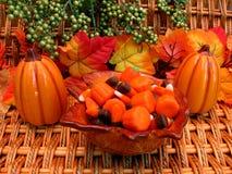 Ciotola di autunno di caramella fotografie stock