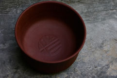 Ciotola di Brown per tè cinese Fotografia Stock