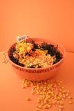Ciotola di caramella di Halloween Fotografia Stock