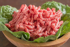 Ciotola di carne tritata Fotografia Stock