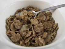 Ciotola di cereale da prima colazione di scricchiolio di accreditamento Fotografia Stock Libera da Diritti