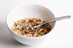 Ciotola di cereale pronta Fotografie Stock