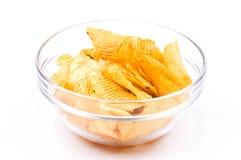 Ciotola di chip Immagini Stock