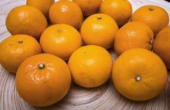 Ciotola di clementine Fotografia Stock