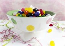 Ciotola di fagioli di gelatina Fotografie Stock
