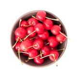 Ciotola di frutta isolata fotografia stock