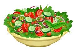Ciotola di insalata illustrazione di stock