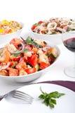 Ciotola di insalata del pane di Panzanella Fotografia Stock