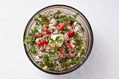 Ciotola di insalata del pesce Immagini Stock