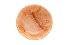 Ciotola di legno vuota, vista superiore Immagini Stock