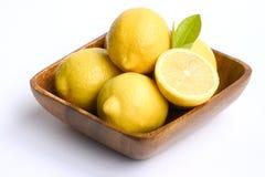 Ciotola di limoni Fotografia Stock Libera da Diritti