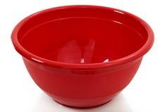 Ciotola di mescolanza rossa Immagine Stock