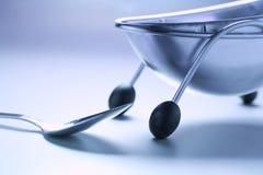 Ciotola di minestra e del cucchiaio Immagine Stock