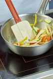 Ciotola di miscelazione dell'insalata del cuoco unico in serie piena delle ricette dell'alimento Fotografia Stock