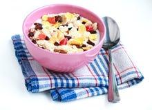 Ciotola di muesli dei cereali Immagine Stock Libera da Diritti