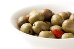 Ciotola di olive fotografia stock libera da diritti