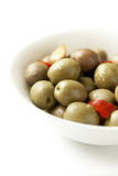 Ciotola di olive Fotografie Stock