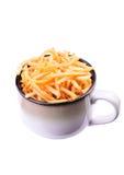 Ciotola di patate fritte Fotografia Stock