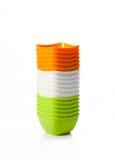 Ciotola di plastica di a microonde Fotografia Stock Libera da Diritti