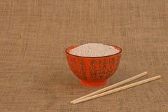Ciotola di riso arancio Fotografia Stock Libera da Diritti