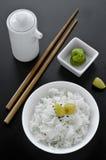 Ciotola di riso asiatica Fotografie Stock