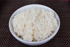 Ciotola di riso bianco immagini stock libere da diritti