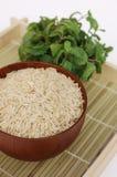 Ciotola di riso sbramato Fotografia Stock Libera da Diritti