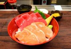 Ciotola di sashimi Immagine Stock