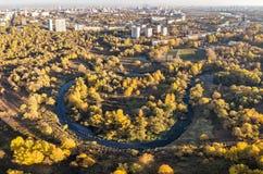 Ciotola di Shodnenskaya - parco naturale a Mosca, Russia immagine stock libera da diritti