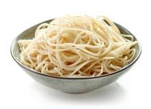Ciotola di spaghetti fotografie stock libere da diritti