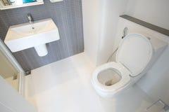 Ciotola di toilette bianca fotografia stock