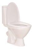 Ciotola di toilette bianca (percorso di ritaglio) Immagini Stock Libere da Diritti